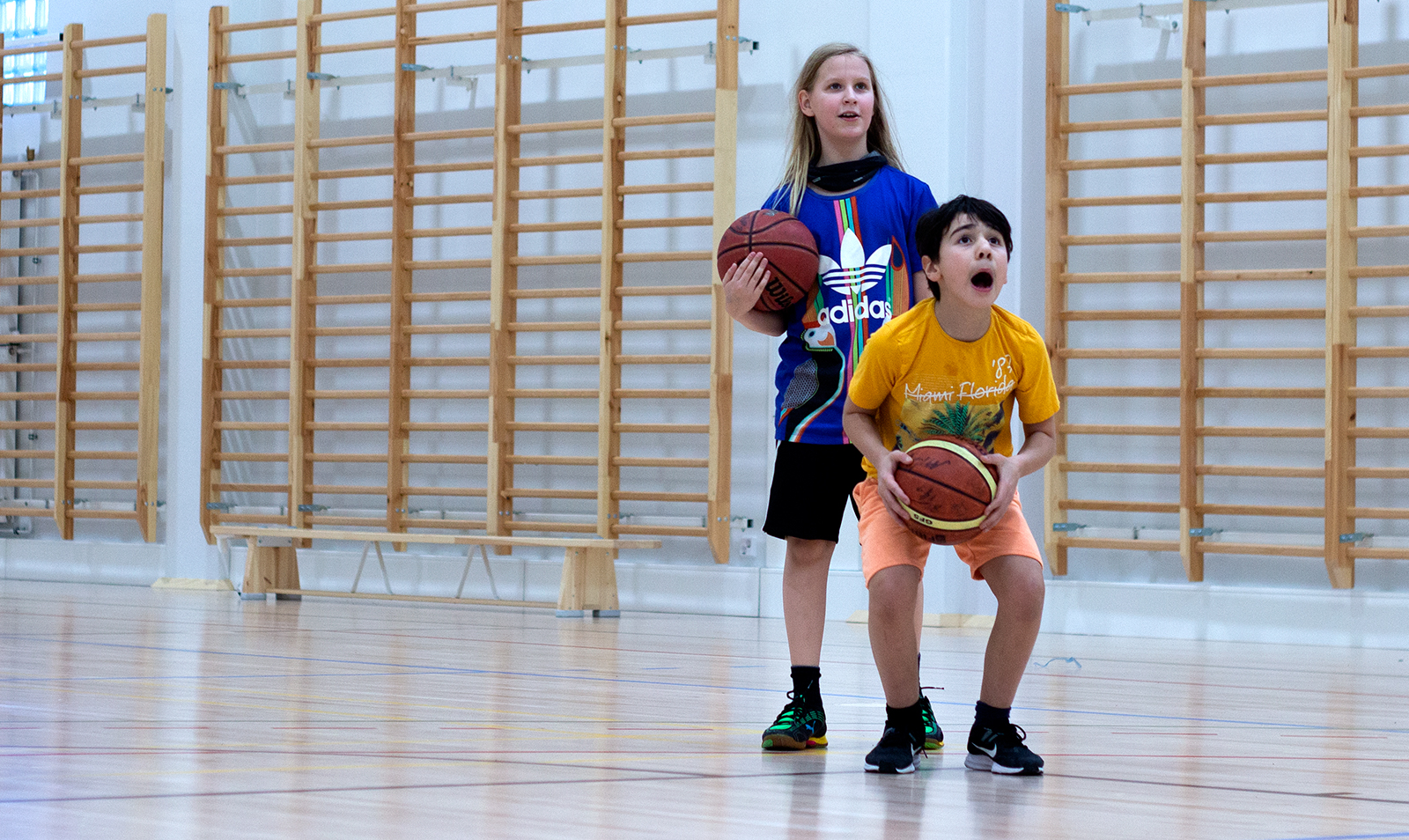 Playing Basketball with Alba Alppila